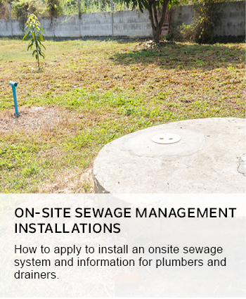 on-site sewage management systems