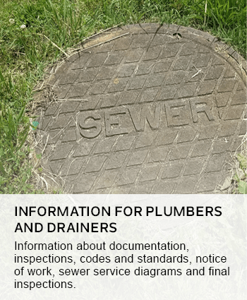 information for plumbers and drainers