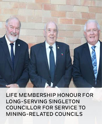 Life membership honour for long-serving Singleton councillor for service to mining-related councils