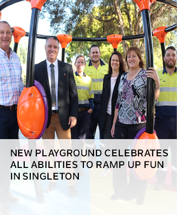 NEW PLAYGROUND CELEBRATES ALL ABILITIES TO RAMP UP FUN IN SINGLETON