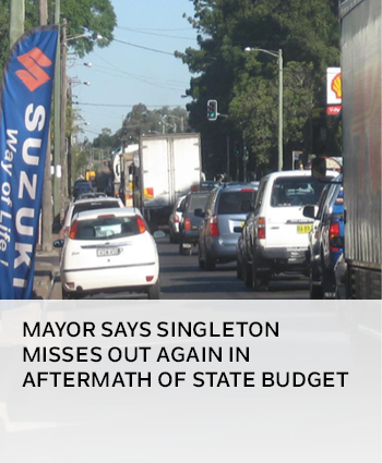 Mayor says Singleton misses out again in aftermath of State Budget