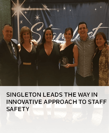 Singleton leads the way in innovative approach to staff safety