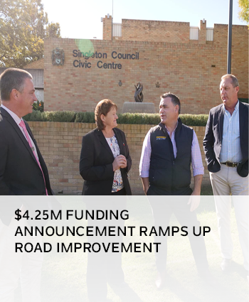 4.25M FUNDING ANNOUNCEMENT RAMPS UP ROAD IMPROVEMENT
