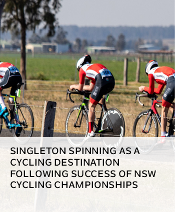 Singleton spinning as a cycling destination following success of NSW Cycling Championships