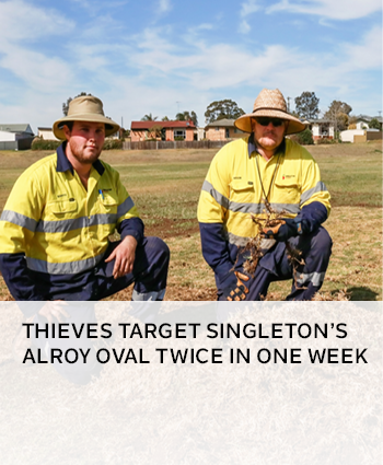Thieves target Singletons Alroy Oval twice in one week
