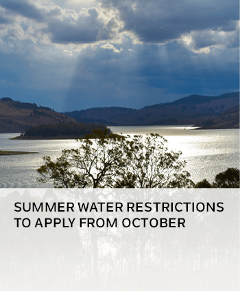 summer water restrictions to apply from October