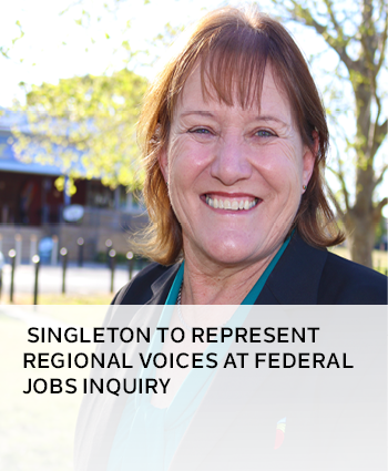 Singleton to represent regional voices at federal jobs inquiry