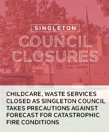 Singleton Council Closures News Release tile
