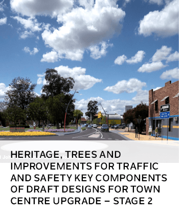 Heritage, trees and improvements for traffic and safety key components of draft designs for Singleto