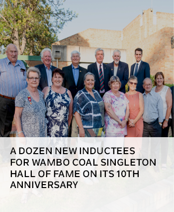 A dozen new inductees for Wambo Coal Singleton Hall of Fame on its 10th anniversary