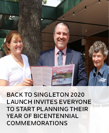 Back to Singleton 2020 launch invites everyone to start planning their year of bicentennial commemor