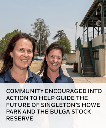 Community encouraged into action to help guide the future of Singletons Howe Park and the Bulga Stoc