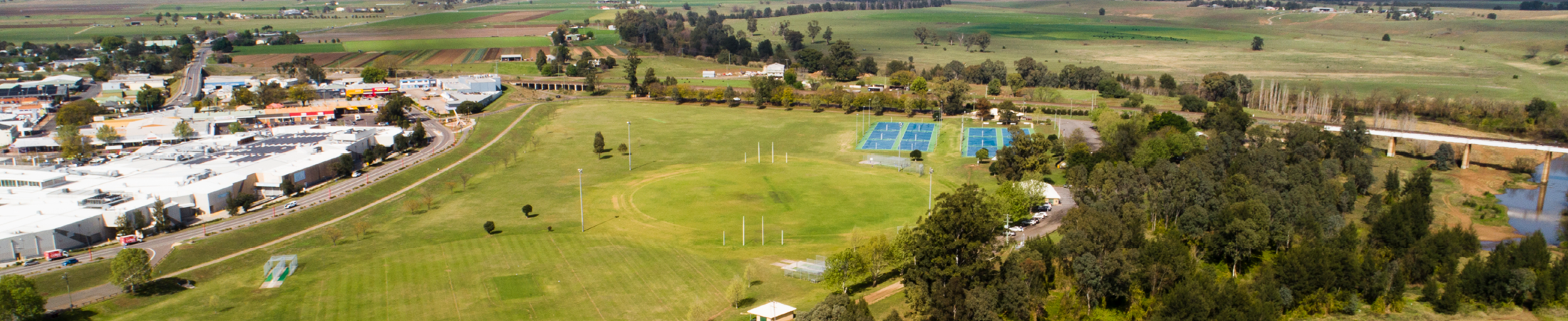 Singleton sporting fields and town