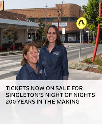Tickets now on sale for Singleton night of nights 200 years in the making