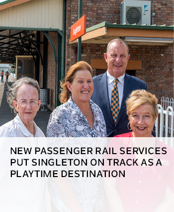 New passenger rail services put Singleton on track as a playtime destination