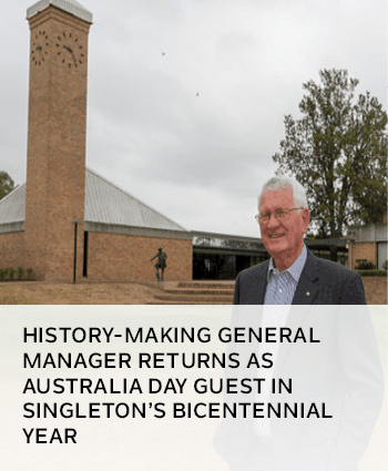 History-making general manager returns as Australia Day guest in Singleton bicentennial year