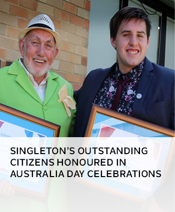 Singleton outstanding citizens honoured in Australia Day celebrations