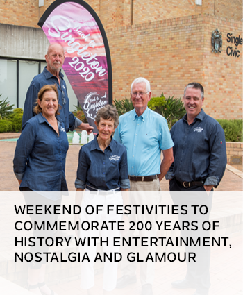 weekend of festivities to commemorate 200 years of history with entertainment, nostalgia and glamour
