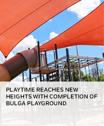 Playtime reaches new heights with completion of Bulga playground