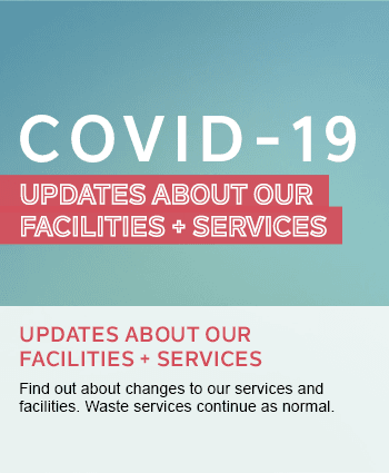 Updates about facilities and services