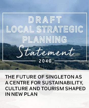 THE FUTURE OF SINGLETON AS A CENTRE FOR SUSTAINABILITY, CULTURE AND TOURISM SHAPED IN NEW PLAN