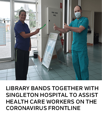 Library bands together with Singleton Hospital to assist health care workers on the coronavirus fron
