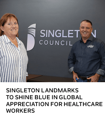 SINGLETON LANDMARKS TO SHINE BLUE IN GLOBAL APPRECIATION FOR HEALTHCARE WORKERS