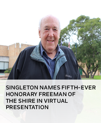 Singleton names fifth-ever Honorary Freeman of the Shire in virtual presentation