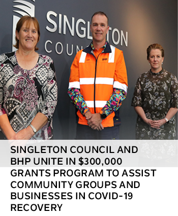 Singleton Council and BHP unite in 300,000 grants program to assist community groups and businesses
