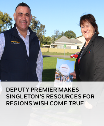 Deputy Premier makes Singletons Resources for Regions wish come true