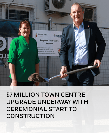 7 million Town Centre Upgrade underway with ceremonial start to construction