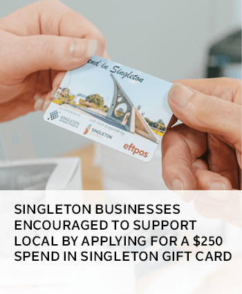 Singleton businesses encouraged to support local by applying for a Spend in Singleton gift card
