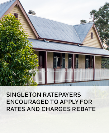 Singleton ratepayers encouraged to apply for rates and charges rebate