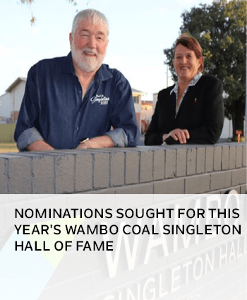 Nominations sought for Wambo Coal Singleton Hall of Fame