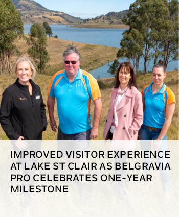 Improved visitor experience at Lake St Clair as Belgravia Pro celebrates one-year milestone