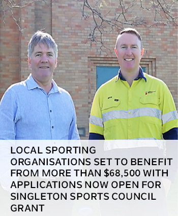 Local sporting organisations set to benefit with applications now open for Singleton Sports Council
