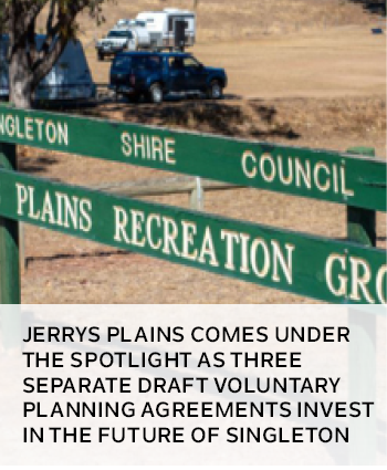 Jerrys Plains comes under the spotlight as three separate draft voluntary planning agreements invest