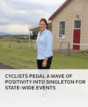Cyclists pedal a wave of positivity into Singleton for state-wide events