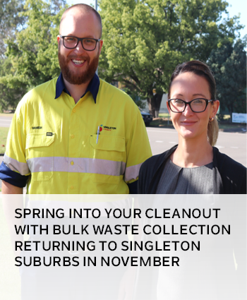Spring into your cleanout with bulk waste collection returning to Singleton suburbs in November