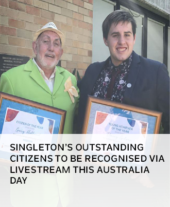 Singleton outstanding citizens to be recognised via livestream this Australia Day