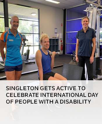 Singleton gets active to celebrate International Day of People with a Disability