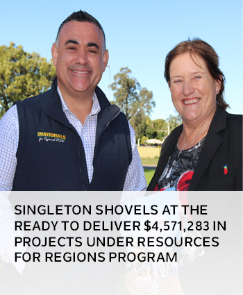Singleton shovels at the ready to deliver 4,571,283 in projects under Resources for Regions program