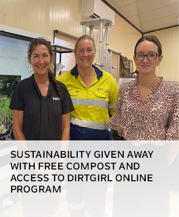 Sustainability given away with free compost and access to dirtgirl online program