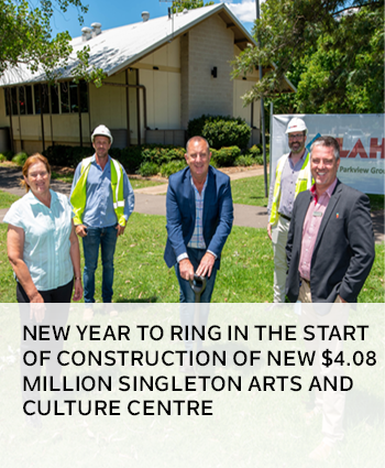New year to ring in the start of construction of new 4.08 million Singleton Arts and Culture Centre