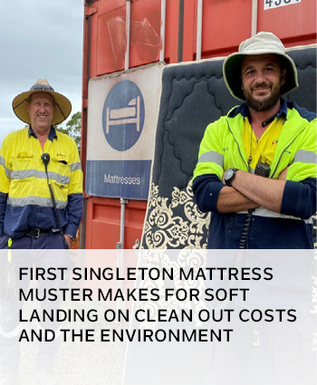 First Singleton Mattress Muster makes for soft landing on clean out costs and the environment