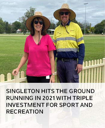 Singleton hits the ground running in 2021 with triple investment for sport and recreation