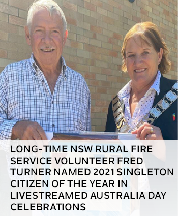 Long-time NSW Rural Fire Service volunteer Fred Turner named 2021 Singleton Citizen of the Year in l