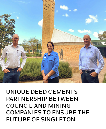Unique Deed cements partnership between Council and mining companies to ensure the future of Singlet
