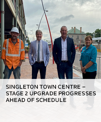Singleton Town Centre  Stage 2 Upgrade progresses ahead of schedule