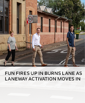 Fun fires up in Burns Lane as laneway activation moves in